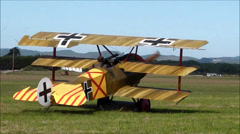 Fokker Triplane replica Stock Footage