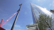 The Shard London England Britain Europe Black cab Stock Footage