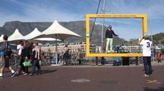 Table Mountain photo frame, Cape Town Stock Footage