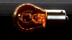 Scanning light bulb Stock Footage