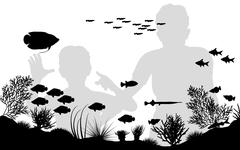 aquarium - stock illustration