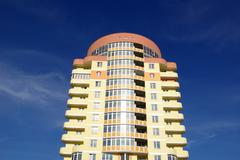 modern apartments building - stock photo