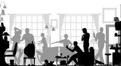 Family gathering Stock Illustration