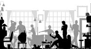 Stock Illustration of family gathering