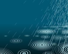 Night rain Stock Illustration