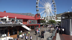 The Cape Wheel and Table Mountain Stock Footage