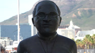 Stock Video Footage of Nobel Square, Desmond Tutu statue