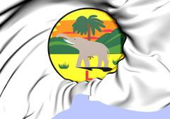 seal of lagos colony - stock illustration