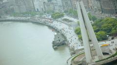 Landmark Monument Peoples Heroes Shanghai China Asia Stock Footage