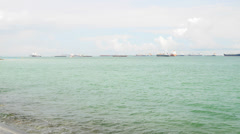 4k Ultra HD time lapse video of refinery Pulau Bukom, Singapore.(TLSEASCAPE 3vt) Stock Footage