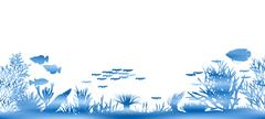 Water coral Stock Illustration