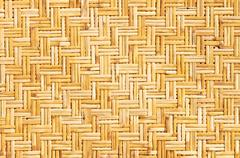 Palm leaves straws background Stock Photos