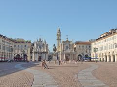 Piazza San Carlo, Turin - stock photo