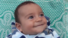 Portrait of smiling baby Stock Footage