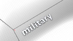 Growing chart graphic animation, Military. Stock Footage