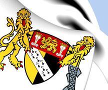 norfolk coat of arms - stock illustration