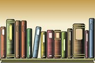 Stock Illustration of woodcut books