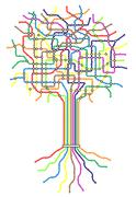 subway tree - stock illustration