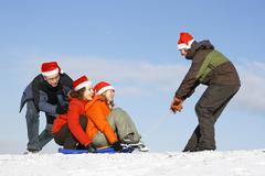 Christmas pastime - stock photo