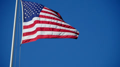 USA Flag 96fps 09 Slow Motion x4 Stock Footage