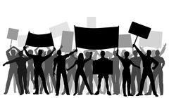 Protester group Stock Illustration