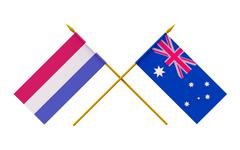 Stock Illustration of flags, australia and netherlands