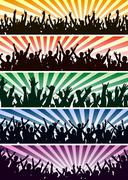 Concert crowds Stock Illustration