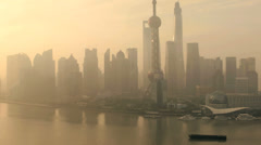 Shanghai Financial district SWFC Building China Stock Footage