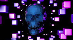 Polygon Skull 04 Stock Footage