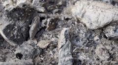 Burned-out embers Stock Footage