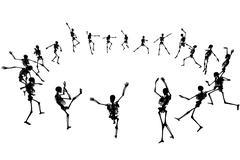 dancing skeletons - stock illustration