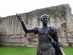 Emperor Trajan Statue Stock Photos