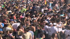 HD MARIJUANA CROWD shot in BOULDER COLORADO on 4/20. Stock Footage