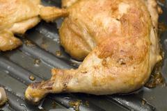 Stock Photo of chicken leg grill