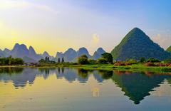 Li River in Yangshuo Stock Photos