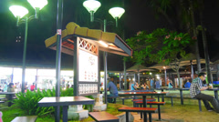 4k Ultra HD time lapse video of Newton Food Centre, Singapore.(TL--NEWTON 11) Stock Footage