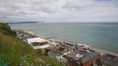 Shanklin Isle of Wight view to Culver Down Stock Footage