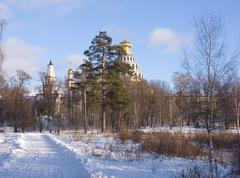 Monastic park - stock photo