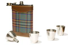 flask with cans - stock photo