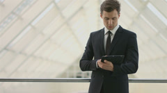 4K & HD resolution: the european businessman notes info at the attic floor Stock Footage