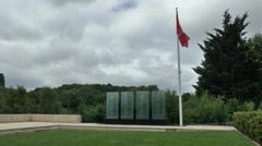 The Canadian Memorial Garden, Mémorial de Caen, Normandy, France. Stock Footage