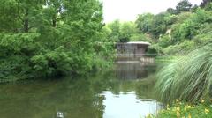 The American Garden at the Mémorial de Caen (Caen Memorial), Normandy, France. Stock Footage