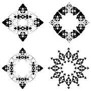 Ottoman motifs design series with thirty-six Stock Illustration