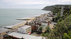 Shanklin Isle of Wight tourist town on the east coast Stock Footage