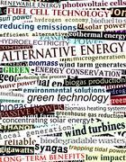 alternative energy headlines - stock illustration