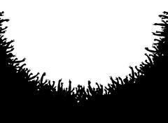 crowd amphitheater - stock illustration