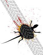 roadkill - stock illustration