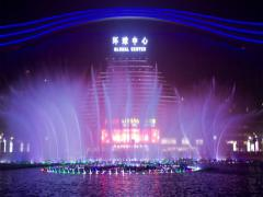 Chengdu Global Center at night Stock Footage