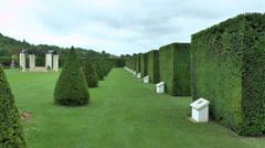The British Garden at the Mémorial de Caen (Caen Memorial), Normandy, France. Stock Footage
