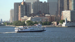 Passenger Ferry, Boats, Ships, Tourists, Vacation Stock Footage